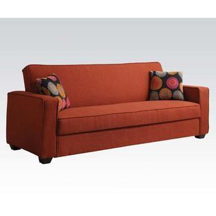 Hlukhiv Adjustable Sofa Upholstered in Red Linen ()
