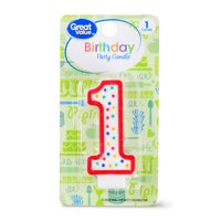 Great Value Birthday Party Candle, Number 1