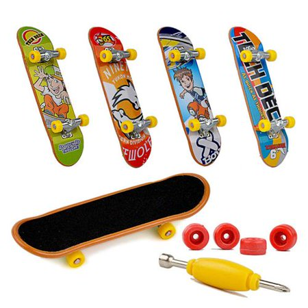 AkoaDa Finger Skateboard Fingerboard Skate Board Kids Table Deck Mini Children Toys Retro Decks Skateboards