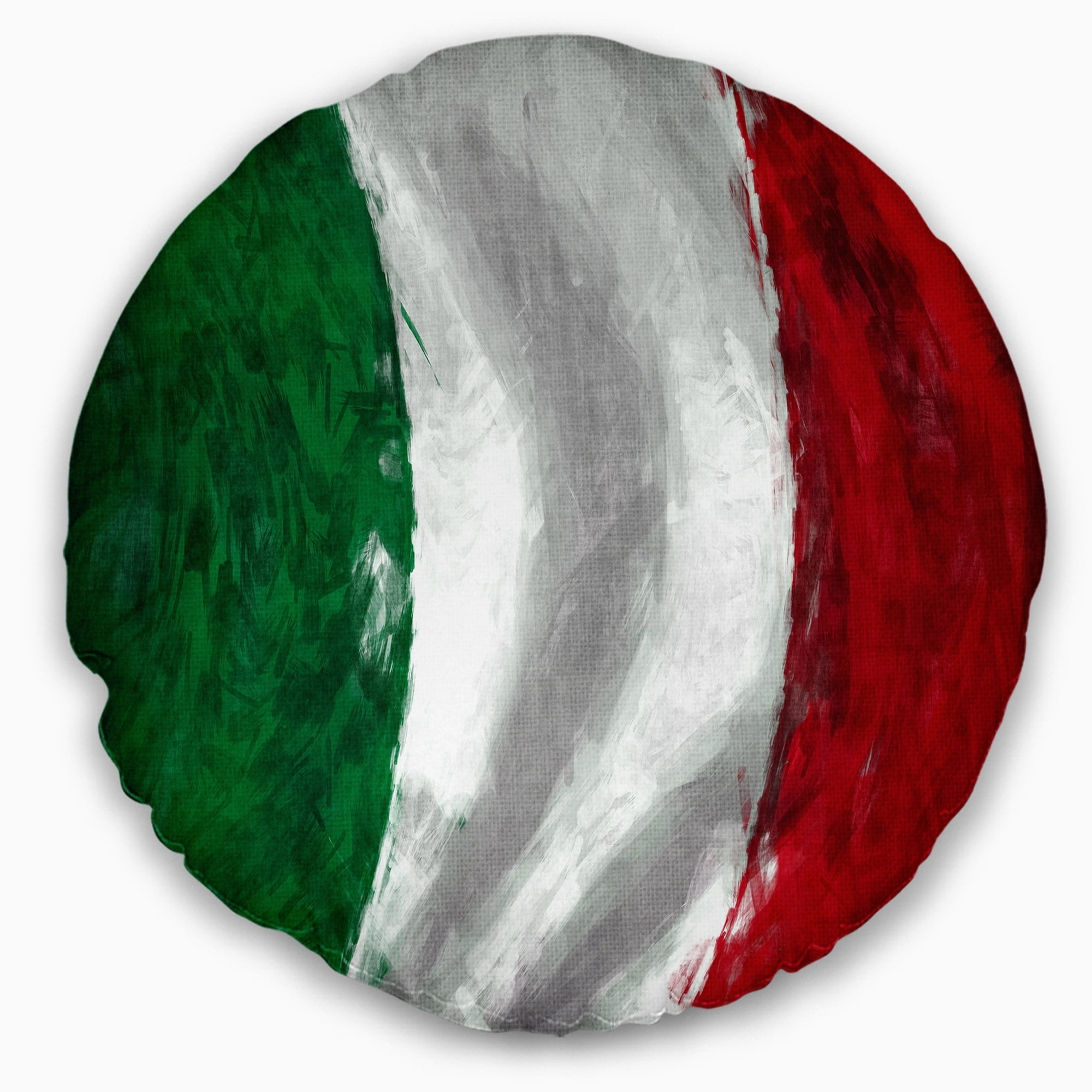 Sofa Throw Pillow 20 Designart Cu6726 20 20 C Italy Flag Contemporary Round Cushion Cover For Living Room Bedding Decorative Pillows Inserts Covers