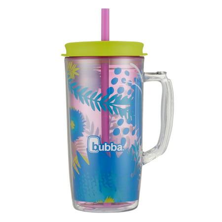Bubba Envy Dual-wall Insulated Mug with Straw, 48 Oz., Peacock Petal