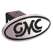 Defenderworx 40003 GMC - Inscribed GMC Classic - Black - Oval - 2 in. Billet Hitch Cover