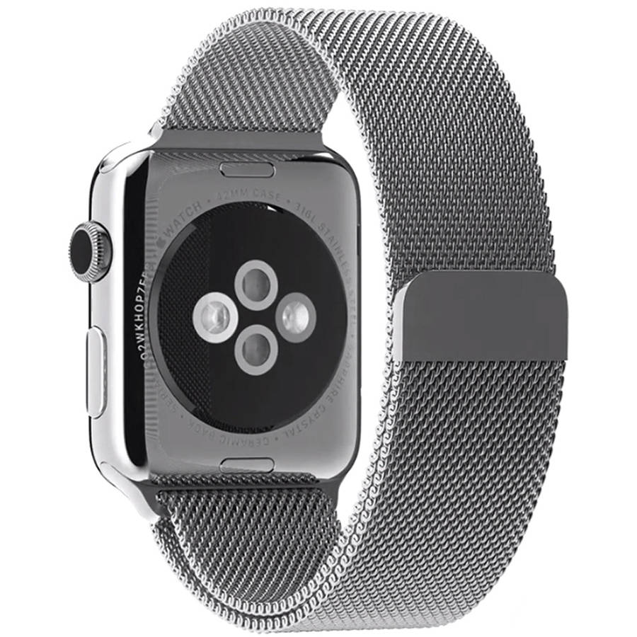 Penom Stainless Steel Bracelet Strap with Fully Magnetic Closure Clasp for Apple iWatch Sport and Edition, 42mm