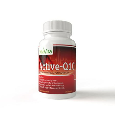 Active-Q10, Supports Healthy Heart, Normal Cholesterol Level, & Blood Circulation(60 capsules)