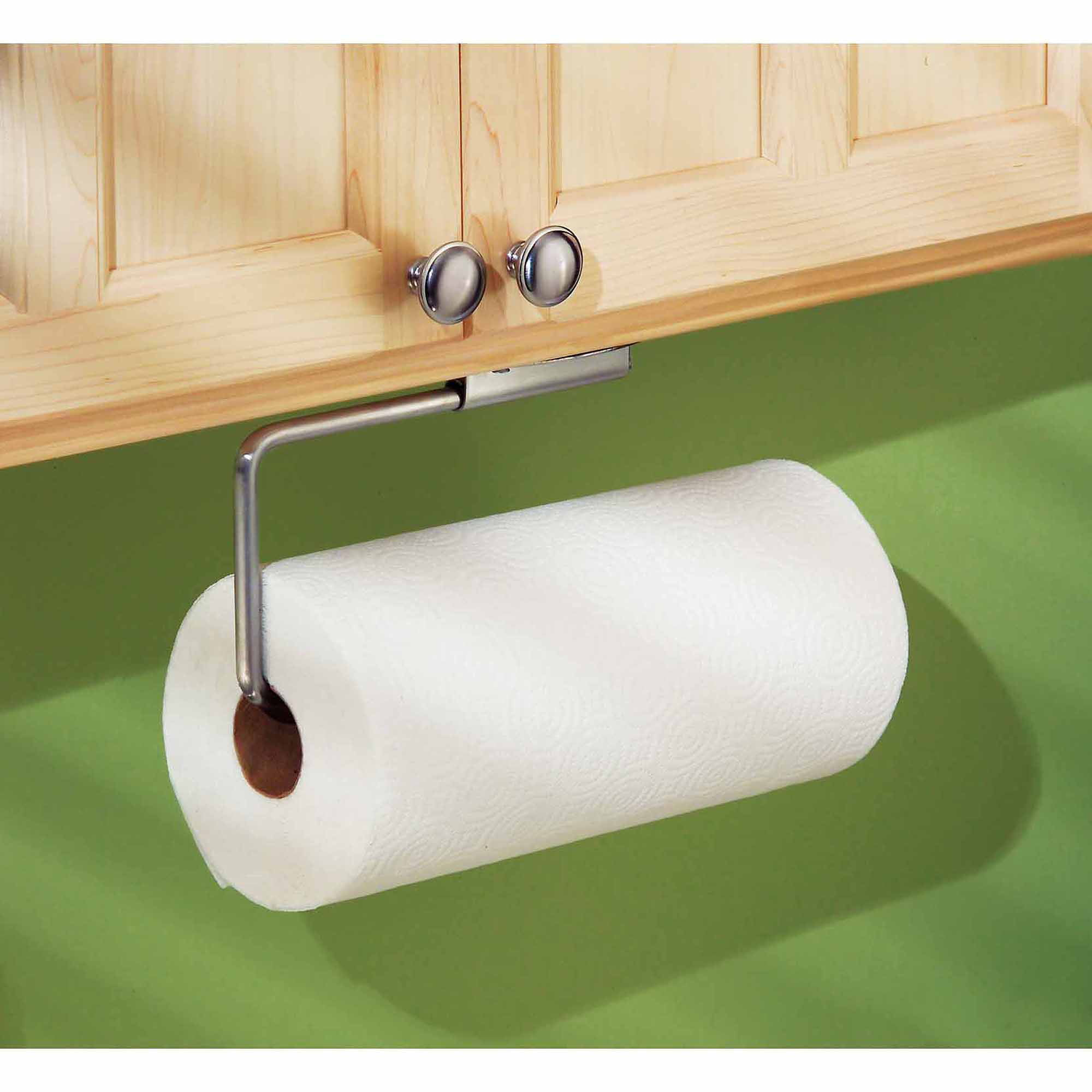 InterDesign Forma Swivel Paper Towel Holder For Kitchen, Wall Mount/Under  Cabinet, Brushed Stainless Steel   Walmart.com