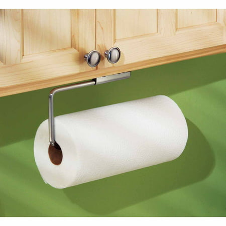 InterDesign Forma Swivel Paper Towel Holder for Kitchen, Wall Mount/Under Cabinet, Brushed Stainless