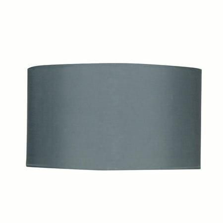 Design House 578526 Eastport Drum Pendant Shade, Gray
