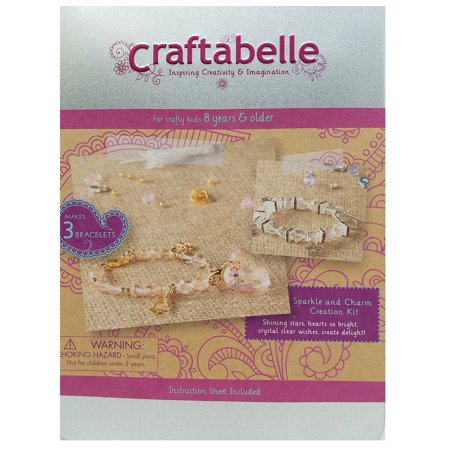 Craftabelle Sparkle and Charm Creation Jewelry Kit Charms Craft Kits