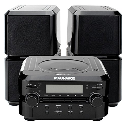 Magnavox Mm435 Black 3Pc Cd Shelf Stereo System Am Fm Radio