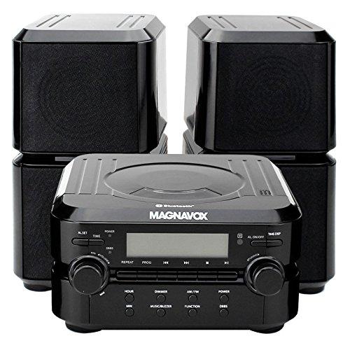 Magnavox Mm435 Black 3Pc Cd Shelf Stereo System Am Fm Radio