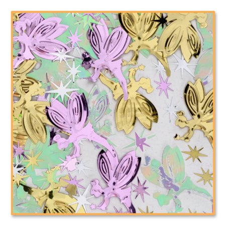 Pack of 6 Metallic Multi-Colored Fairy Magic Princess Celebration Confetti Bags 0.5 oz.](Princess Confetti)