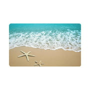 MKHERT Starfish On Beach Sand Doormat Rug Home Decor Floor Mat Bath Mat 30x18 inch