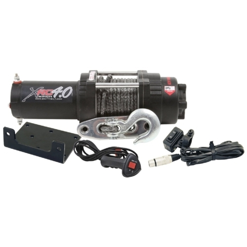 Smittybilt 12 Volt Electric; 4000 Pound Line Pull Capacity; 30 Foot Wire Rope; Roller Fairlead; Wired Remote 97204