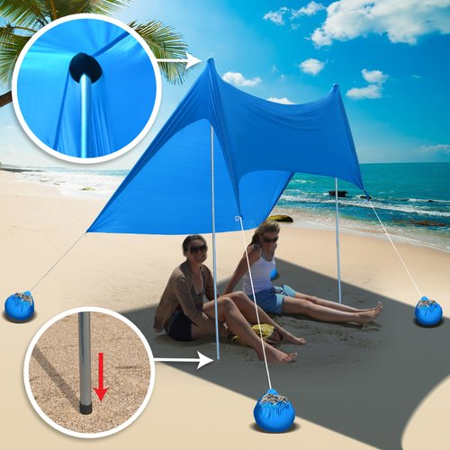 Sunrise Outdoor LTD 2 Person Beach Tent with Sand Anchor Portable Canopy Sunshade