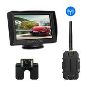 "AUTOVOX M1W Wireless 4.3"" TFT LED Mirror Monitor + Car Rear View Backup Reverse Camera Night Vision"