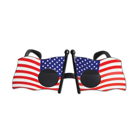 Pack of 6 Patriotic Flag Fanci-Frame Eyeglass Party Favor Costume Accessories