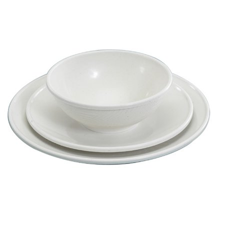 Nordic Ware Microwave Melamine 3 Piece Place Setting, Service for 1