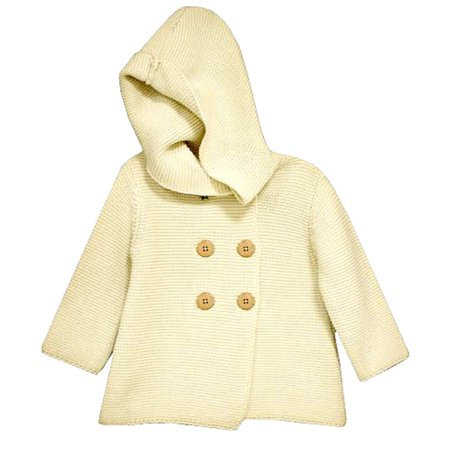 Cotton Cardigan Jacket - Bonnie Jean Little Girls Ivory Cotton Cardigan Sweater Coat 3T