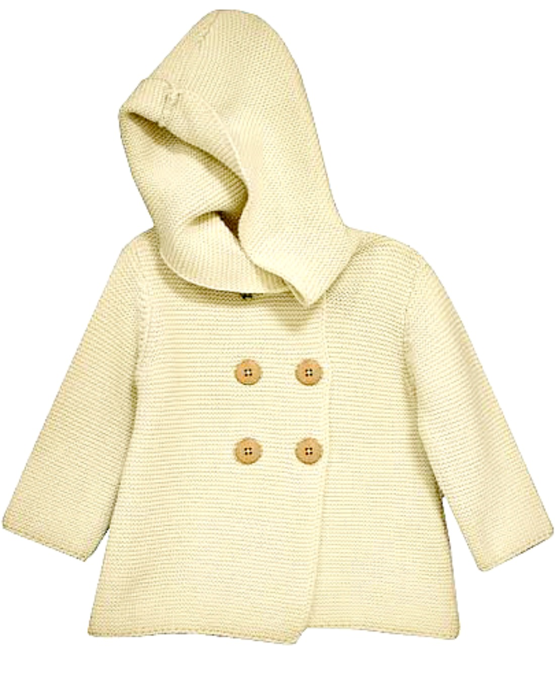 Bonnie Jean Little Girls Ivory Cotton Cardigan Sweater Coat 3T