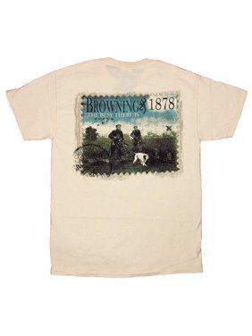 b964542dab7d2 Product Image Mens Browning Marsh Hunters Buckmark Short Sleeve T-Shirt  Natural Beige Small