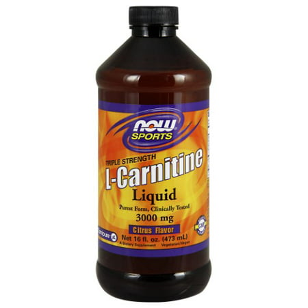 Now Liquid L-Carnitine 3000mg, 16 Fl oz