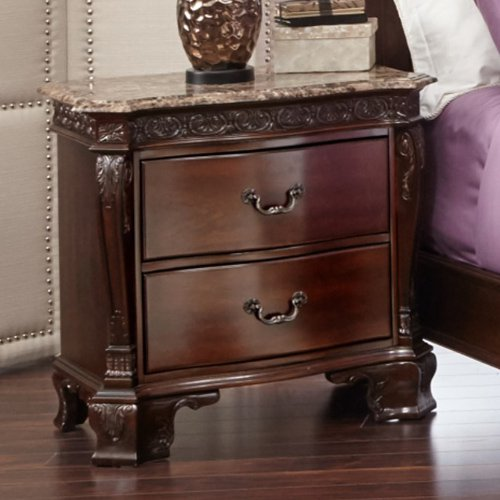 Picket House Furnishings Victoria Marble Top 2 Drawer Nightstand