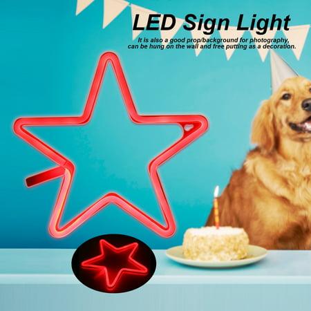 EECOO LED Decor Lamp,USB/Battery Powered LED Neon Sign Light Home