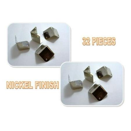 32 Pieces Metal Cabinet Corner Nickel For DJ and Speaker Boxes HA-48NL