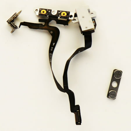 Jack Victor Two Button - OEM Apple iPhone 4 Replacement Audio Jack Volume Buttons Flex Cable White A1349 (Refurbished)