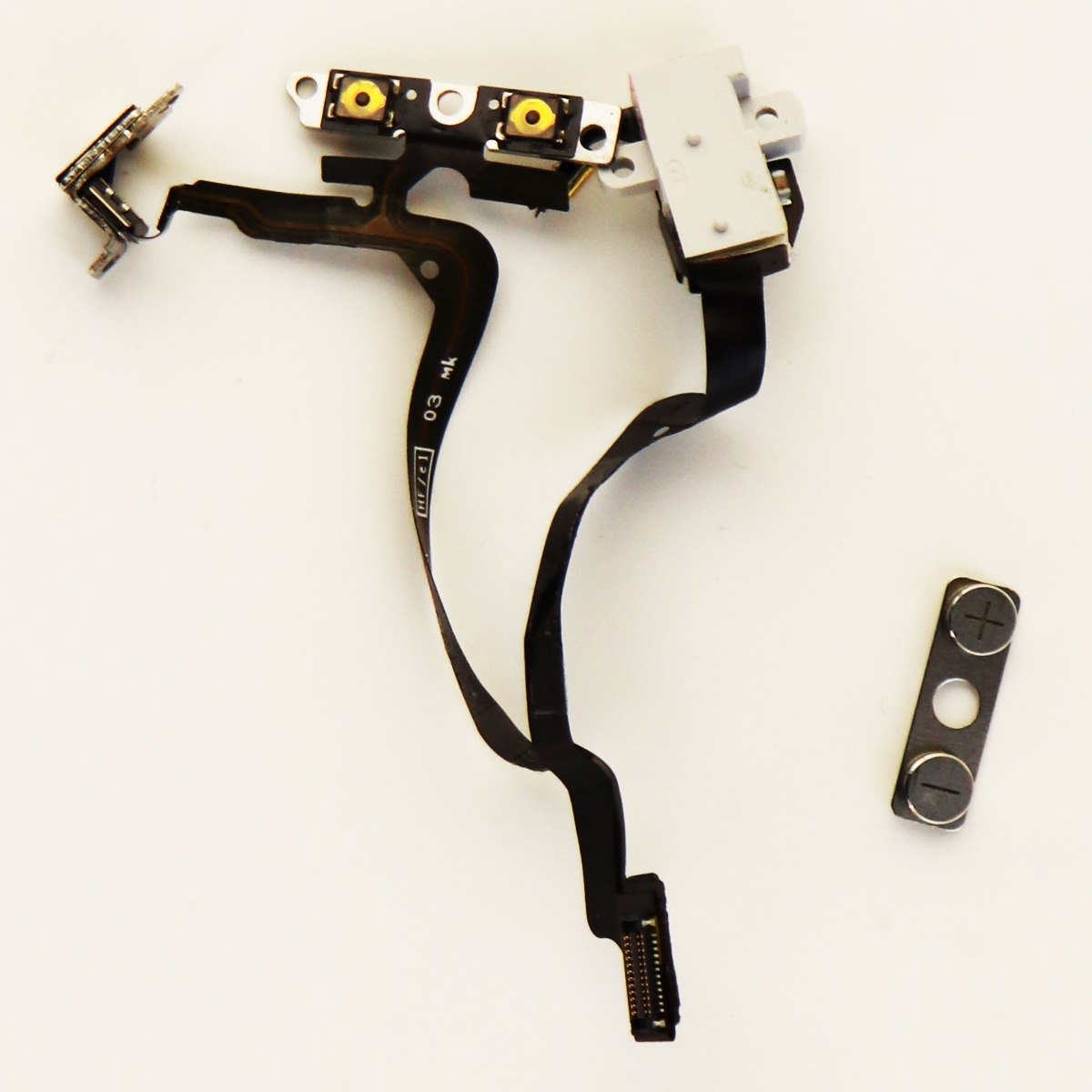 OEM Apple iPhone 4 Replacement Audio Jack Volume Buttons Flex Cable White A1349 (Refurbished)