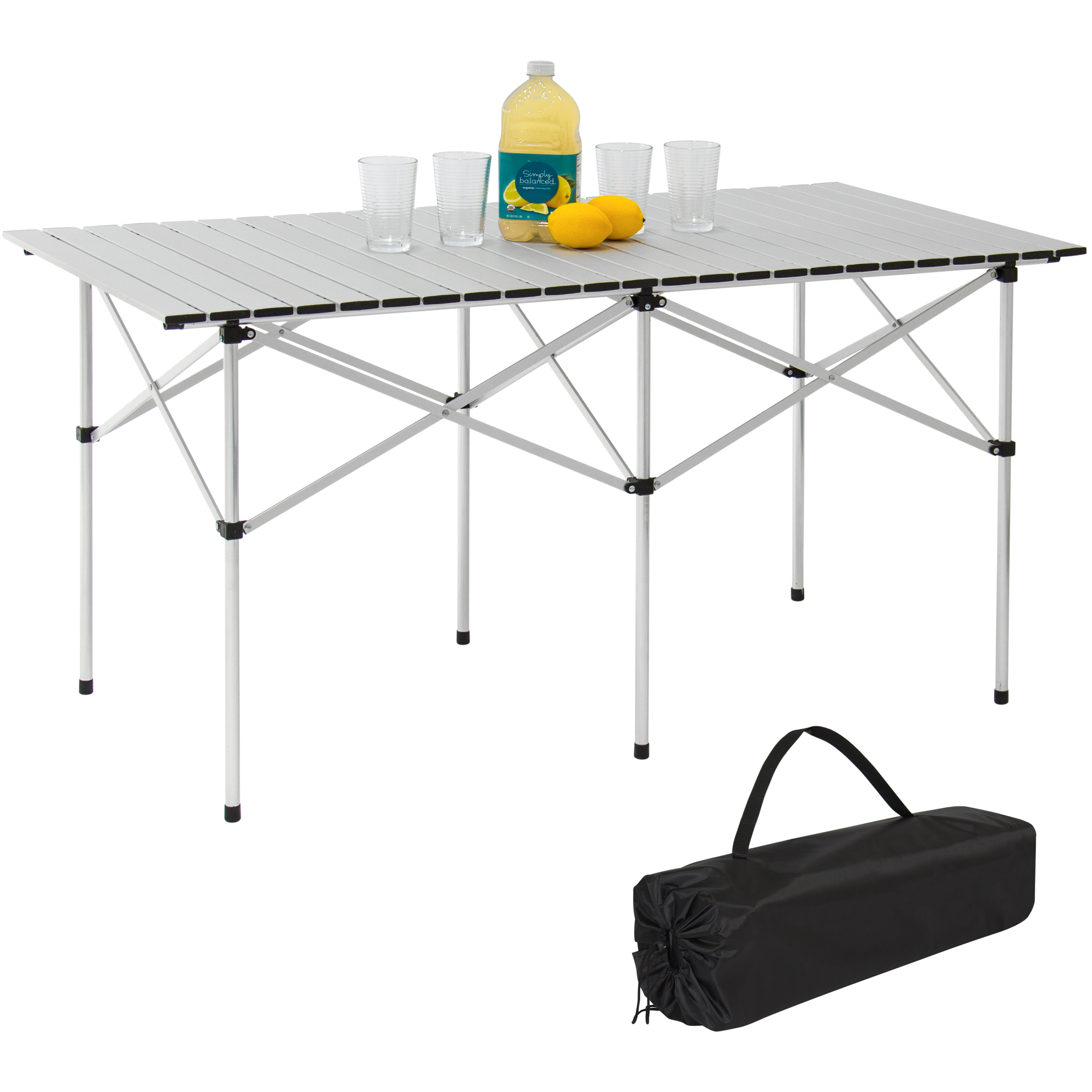 "Best Choice Products Camping Portable Aluminum 55"" Roll-Up Picnic Table W  Carrying Bag by"