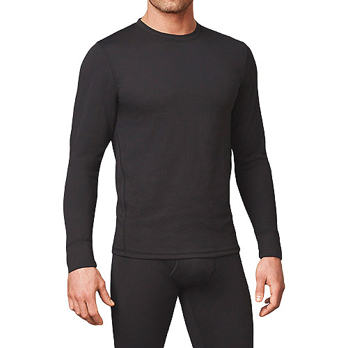 by cuddl duds menu0027s long sleeve crew neck shirt with performance mesh - Cuddleduds