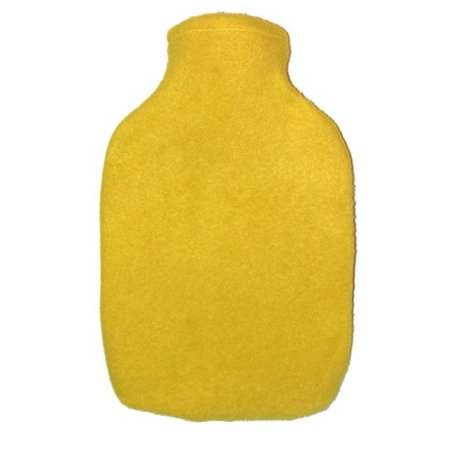 Warm Tradition Yellow Fleece Covered Hot Water Bottle - Bottle Made in Germany, Cover Made in - Yellow Water Bottle