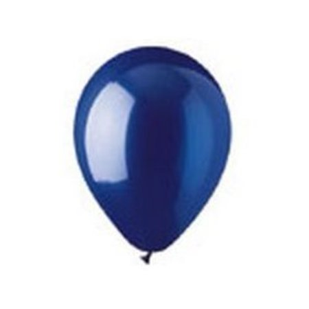 12 Crystal Sapphire Navy Blue Latex (100 Per Bag) Multi-Colored - Navy Balloons