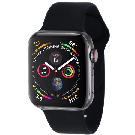 Apple Watch Series 4 (44mm) A1976 (GPS+ LTE) - Space Gray Alum/Black Sport Band (Refurbished)