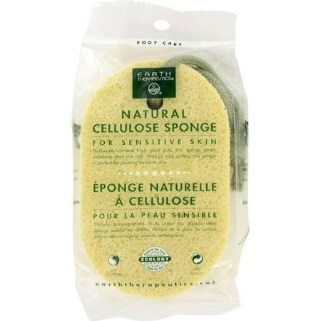 Earth Therapeutics Natural Cellulose Sponge (Natural Bath Sponge)