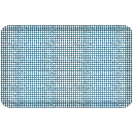 NewLife By GelPro Designer Comfort Kitchen Floor Mat 20x32 Carlyle Turquoise ()