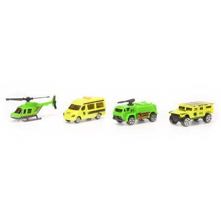 Children DIY Shapes Transform Car Carrier with Dinosaurs Car Helicopter Playset Vehicle Playset - image 4 of 6