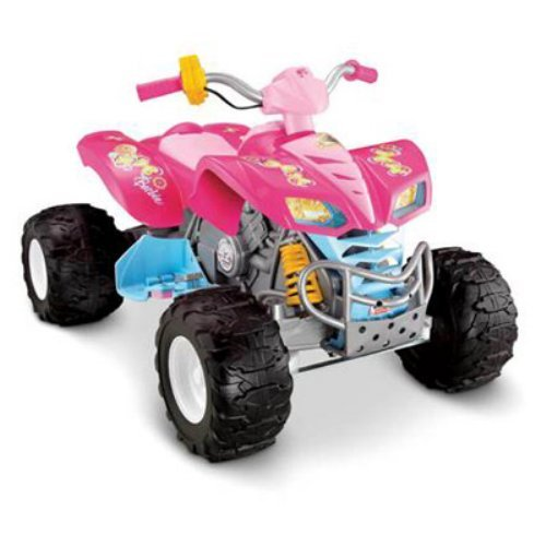 Fisher-Price Power Wheels Girls' Barbie KFX ATV