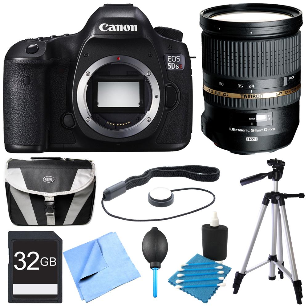 Canon EOS 5DS R 50.6MP Digital SLR Camera Pro Lens Bundle...