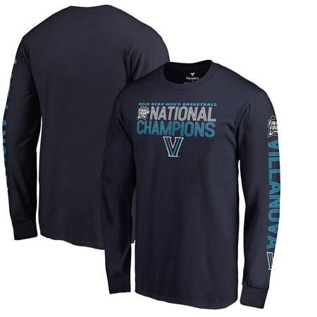 Villanova Wildcats Fanatics Branded 2018 NCAA Men's Basketball National Champions Dribble Long Sleeve T-Shirt - Navy 2005 Ncaa National Champions