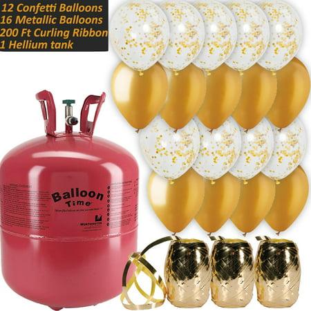 Helium Gas Tank (Helium Tank + 12 Gold Confetti 12