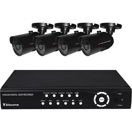 Clover 500 GB Professional Grade 8-Channel Real Time Internet Ready DVR with 4 Indoor/Outdoor Night Vision Cameras (BUN0