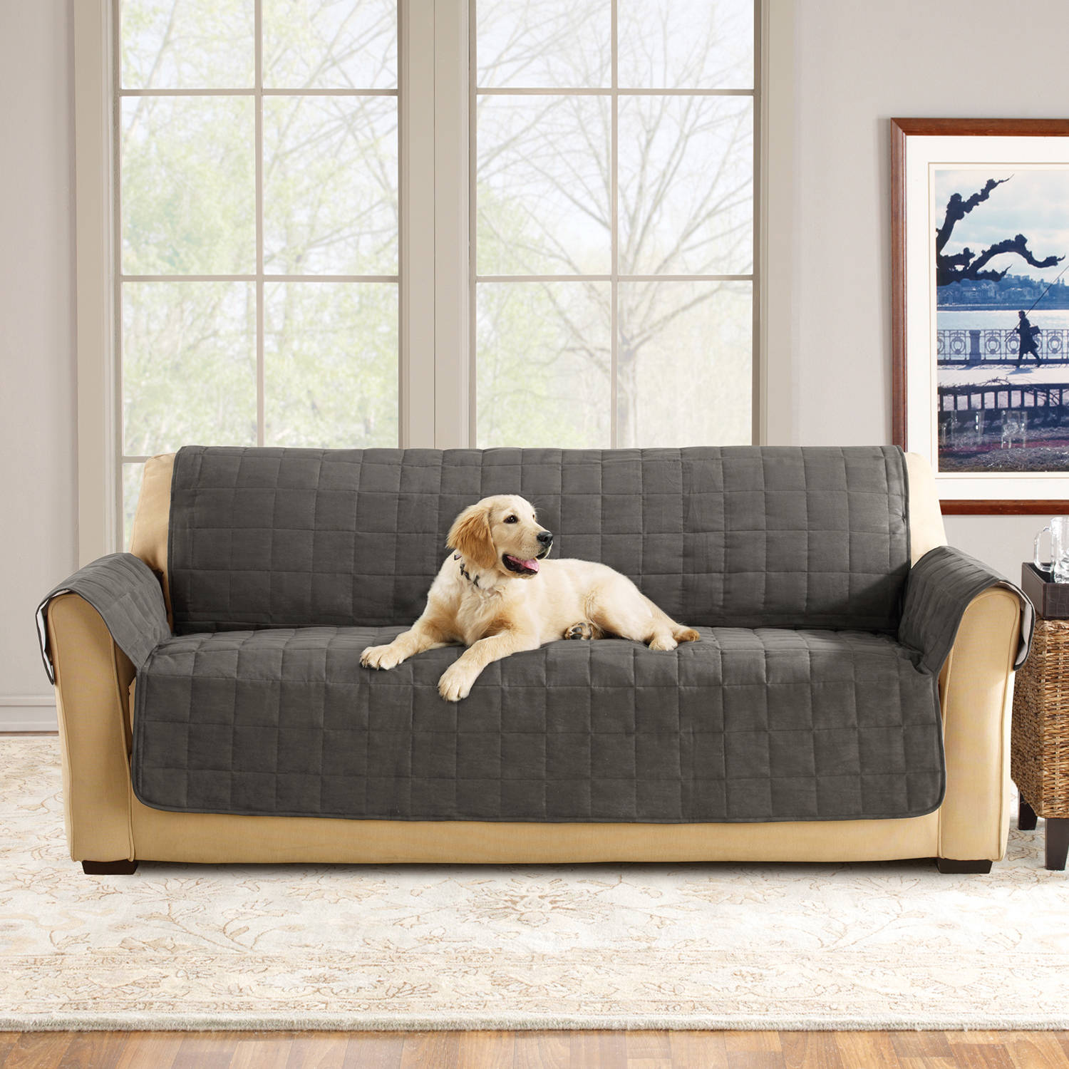 Delicieux Sure Fit Ultimate Waterproof Quilted Pet Sofa Cover