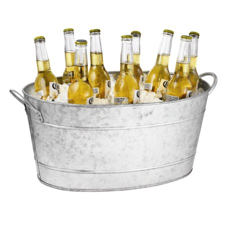 Tablecraft 710 Oz. Galvanized Steel Beverage Tub](Plastic Beverage Tubs)