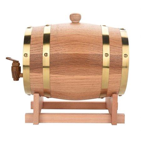 - 3L Vintage Wood Oak Timber Wine Barrel Dispenser for Whiskey Bourbon Tequila,Wine Barrel, Wood Oak Wine Barrel