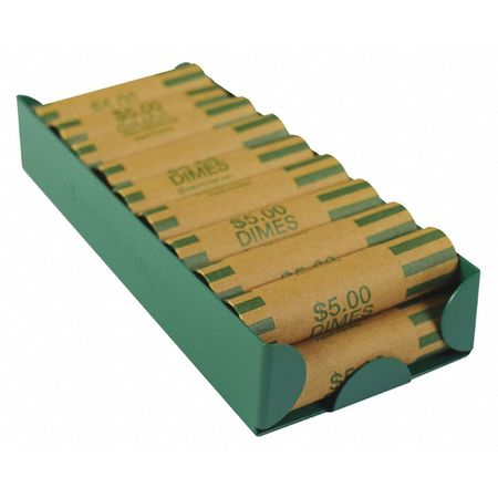 Mmf Industries 211011002 Green Rolled Coin Storage Tray