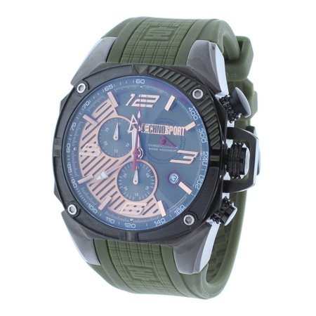 TS-100-10F1 Men's Watch Formula 1 Hunter Green & Gunmetal Swiss Chronograph Date