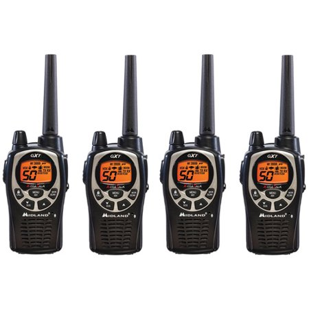 Midland Gxt1000vp4 Xtra Talk Two Way Radio 50 Channels 36 Mile Range Jis4 Waterproof  4 Pack