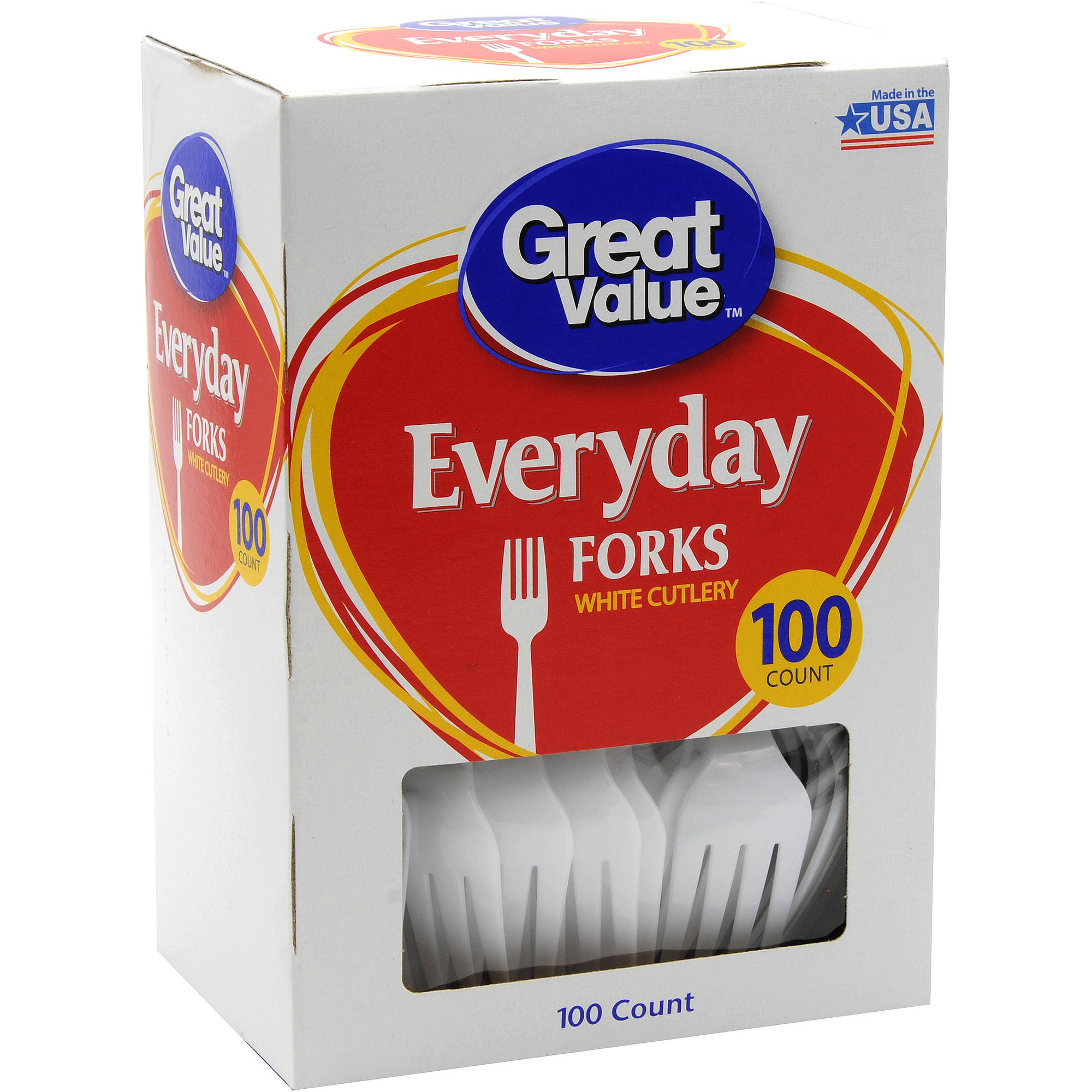 Great Value Everyday Forks, 100 ct